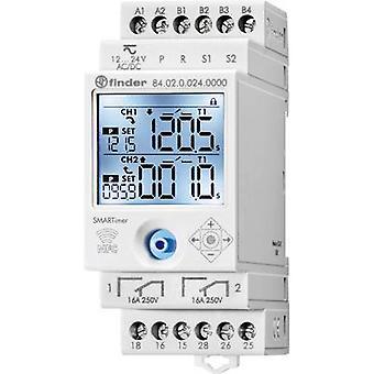 Finder DIN Rail Mount timer Driftspänning: 24 V DC 84.02.0.024.0000 2 förändring-overs 16 A 400 V AC