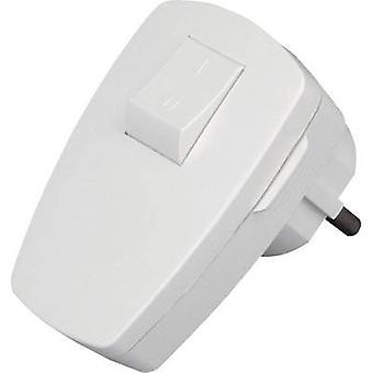 Kopp 170402006 veiligheid L-vorm lichtnet sluit Plastic + schakelaar 230 V wit IP20