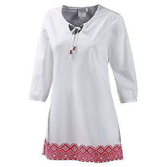 Chiemsee blanco romántico túnica blusa de las señoras en el estilo boho-hippie