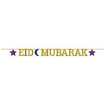 Amscan Eid Mubarak lettre pailleté bannière