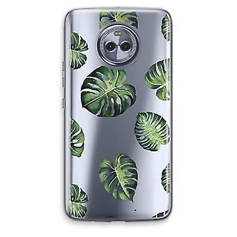 Motorola Moto X4 boîtier Transparent (doux) - Tropical laisse