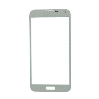 Stuff Certified® Samsung Galaxy S5 i9600 Glass Plate Front Glass A + Quality - White