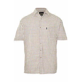 Mestari miesten Tattersall lyhythihainen paita (kpl pakkaus 2)