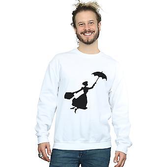 Mary Poppins de Disney los hombres camiseta de silueta de vuelo