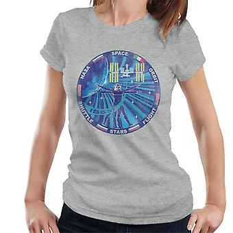 NASA ISS Expedition 37 Mission Badge Distressed Women's T-Shirt