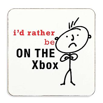 Men's I'd Rather Be On The Xbox Coaster Cork Backed