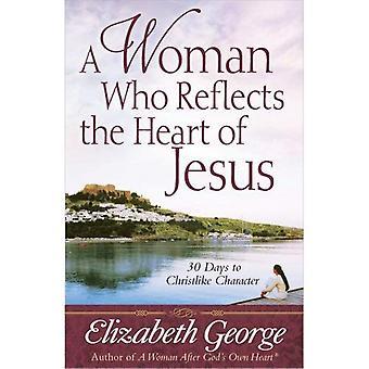 Kvinna som speglar Jesu A hjärta