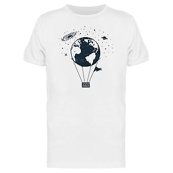 Earth As A Hot Air Balloon Tee Men's -Image by Shutterstock