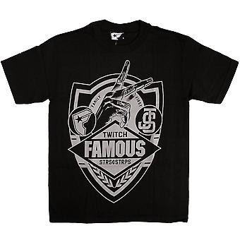 Famous Stars and Straps JS Family First Sheild T-Shirt Black Grey