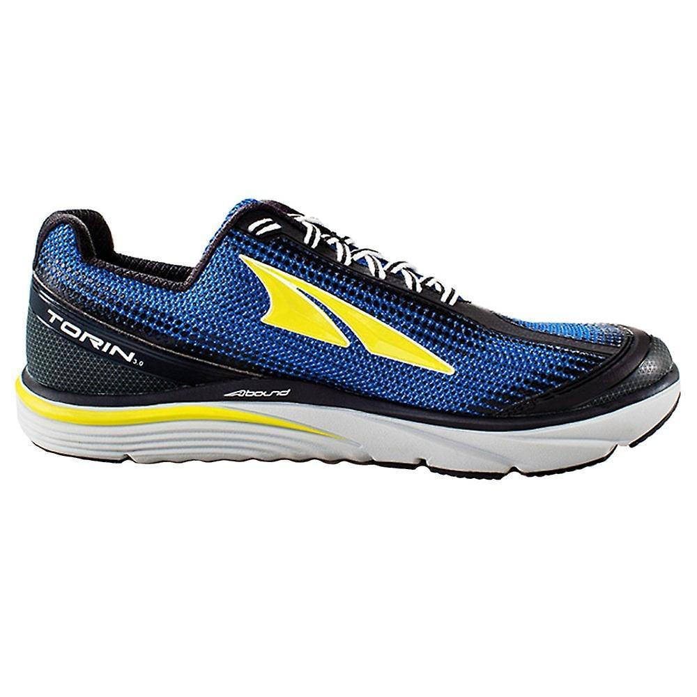 Altra Torin 3 Mens Zero Drop Responsive Cushioning Road Running Shoes Blue/lime