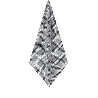 Dobell mens zwarte en witte zakdoek Prins van Wales te controleren