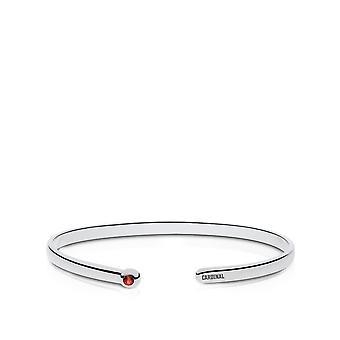Stanford University ruby Manchet armband in Sterling Zilver ontwerp door BIXLER