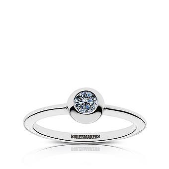 Purdue University Sapphire Ring In Sterling Silver Design by BIXLER