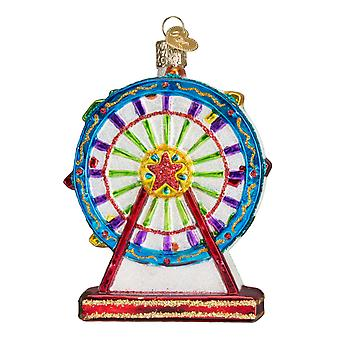 Old World Christmas Ferris Wheel Amusement Ride Holiday Ornament Glass