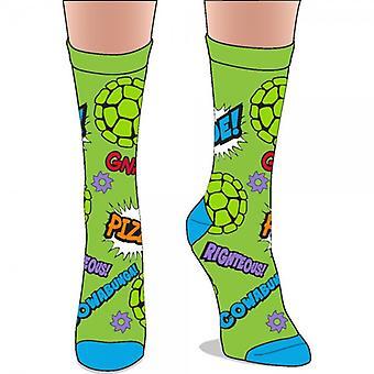 Crew Sock - Teenage Mutant Ninja Turtles - Jrs. New Licensed cr4b05tmt