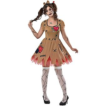 Womens Miss Voodoo Halloween Fancy Kleid Kostüm