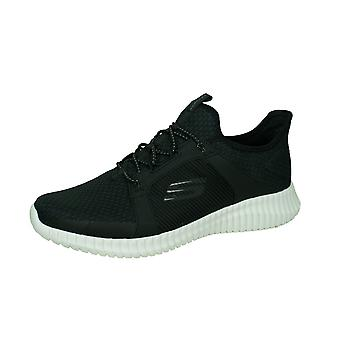 Skechers Elite Flex Mens Lightweight Walking Trainers / Shoes - Black