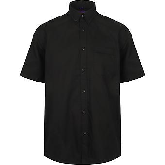 Henbury - Mens Wicking Antibacterial Short Sleeve Shirt