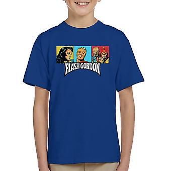 Flash Gordon Trio portræt logo kid ' s T-shirt