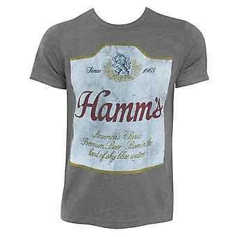 Hamm's Beer Label Hugger Heather Grey T-Shirt