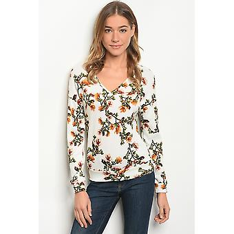 Womens ivoor floral Top