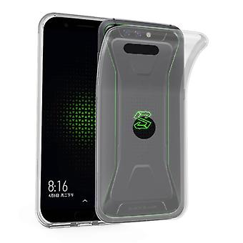 Cadorabo geval voor Xiaomi zwarte haai gevaldekking-mobiele telefoon geval gemaakt van flexibele TPU silicone-silicone geval beschermende case ultra slanke zachte terug Cover Case bumper