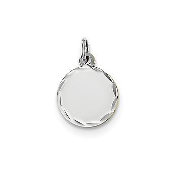 14k Hvid Guld ætset 0,009 Gauge graverbar Runde Disc Charm smykker Gaver til kvinder