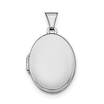 925 Sterling Silver omistaa 2 kuvaa kiillotettu 21mm 2-Frame soikea lukko lista-1,8 grammaa