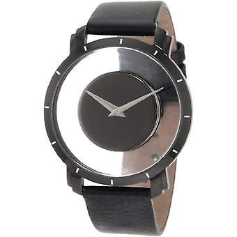 Akribos XXIV men's AKR412BK men's quartz wrist watch, leather, black
