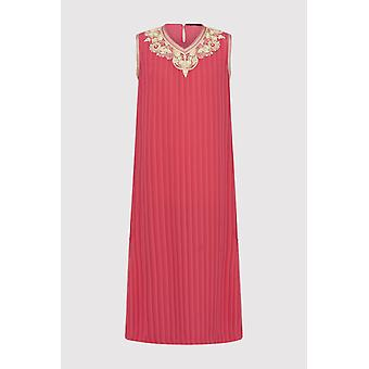 Kaftan naghma girl's sleeveless v-neck ribbed long dress in salmon (2-12yrs)