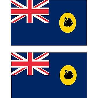2 X Sticker Sticker Car Moto Vinyl Macbook Flag Western Australia