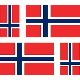 4 X Sticker Sticker Sticker Car Motorcycle Valise Pc Portable Flag Norway