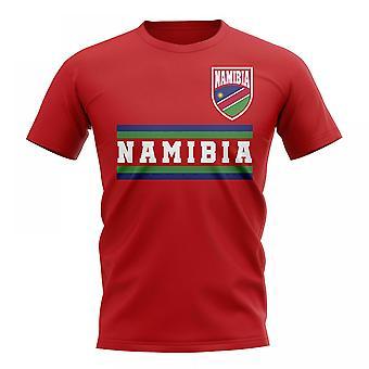 ناميبيا الأساسية لكرة القدم البلد تي شيرت (الأحمر)