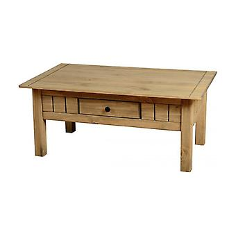 Panama 1 Drawer Coffee Table Natural Wax