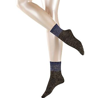 Esprit rib Block sokker-svart