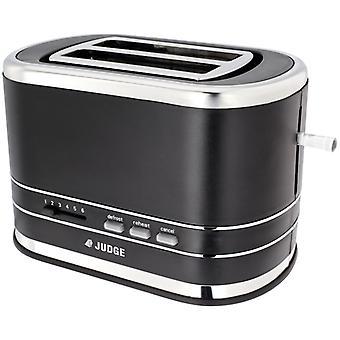 Judge Electricals, Black 2 Slice Toaster, 800w