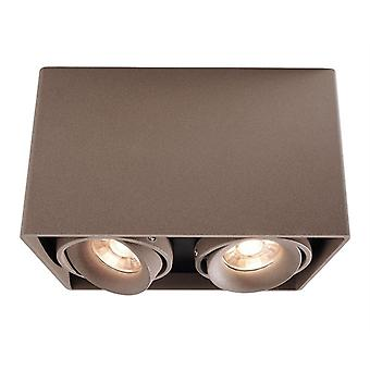 Ceiling lamp Mona II 2xGU10 max. 50W 186x93mm brown swivel and dimmable