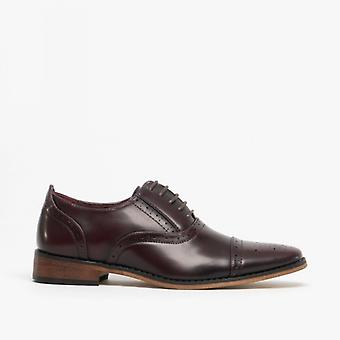 Goor Francis Boys Lace Up Brogue Oxford Chaussures Oxblood
