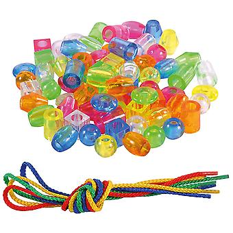 Eduplay Clear Threading Pearls Small Set-70 Pieces Games (120271) Eduplay Clear Threading Pearls Small Set-70 Pieces Games (120271)