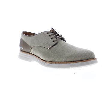 GBX Hammon  Mens Gray Canvas Low Top Lace Up Plain Toe Oxfords Shoes