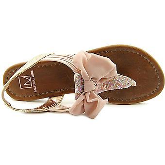 Material Girl Womens Swan Open Toe Casual Slingback Sandals