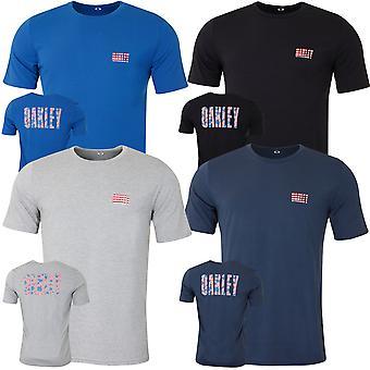 Oakley Miesten Oakley USA Tee Kevyt Hengittävä T-paita