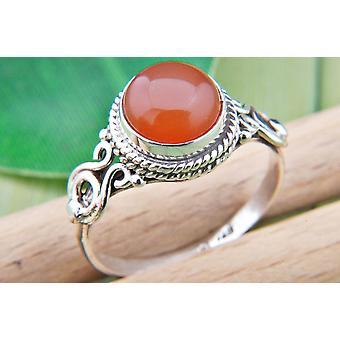 Karneol Ring 925 Silber Sterlingsilber Damenring orange rot (MRI 86-16)