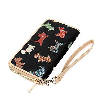 Playful puppy long zip rfid money purse by signare tapestry / lzip-puppy