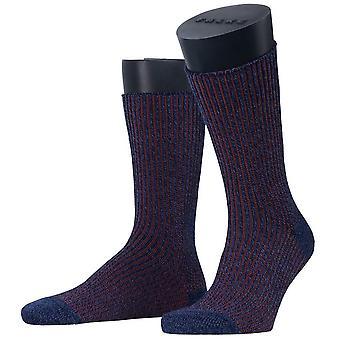 Esprit struktur støvle sokker-Marine Navy