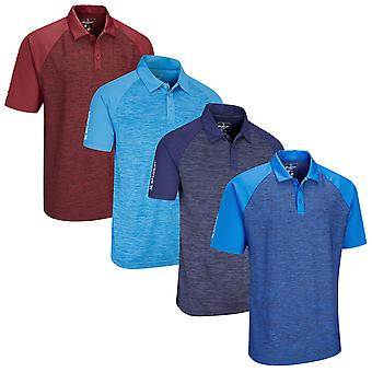 Stuburt Golf Mens Evolve Milby Breathable Contrast Wicking Golf Polo Shirt