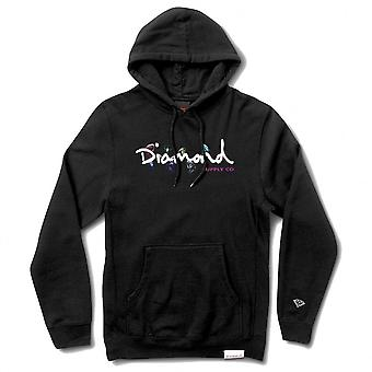 Diamond Supply Co Colour Box Logo Hoodie Noir