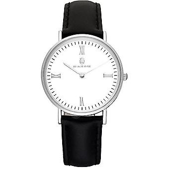 Watch Black Oak-BX57204-167 - leather black case steel Silver Dial white woman