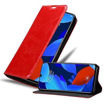 Fodral för Huawei NOVA 5 / 5 PRO vikbart telefonhölje - lock - med stativfunktion och kortfack