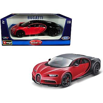 Bugatti Chiron Sport 16 Rouge et Noir 1/18 Diecast Model Car par Bburago
